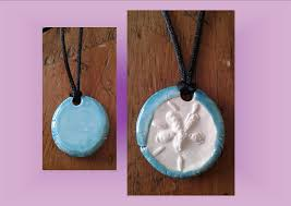 sand dollar necklace turquoise
