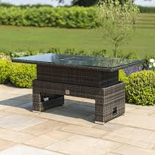 garden rising table with ice bucket