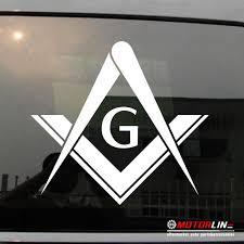 Freemasonry Masonry Freemason Masonic Square And Compasses Decal Stick Mason Donation