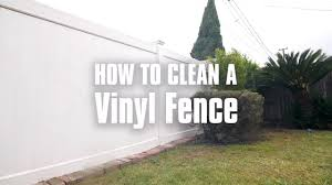 How To Clean A Vinyl Fence Youtube