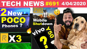 realme X3 Launch Soon, 2 New POCO Phones, PUBG Mobile Shutdown,Amazon  Gaming,vivo Y50 Leaked-#TTN691 - YouTube