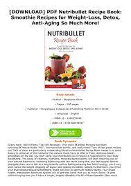 pdf nutribullet recipe book