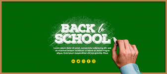 Black Board Banner Back To School Z Ołówkiem | plik PSD Premium