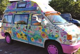 Flower Power Car Decal Stickers By Hippy Motors Funky Flower Car Stickers And Camper Van Decals