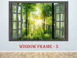 3d Window Forest Landscape Wall Decor Vinyl Poster Nature 3d Etsy Landscape Wall Decor Landscape Walls Wall Vinyl Decor