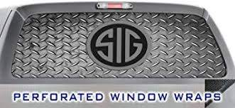Amazon Com Iti Global Designs Sig Sauer 001 Window Wrap Hunting Pistol Rifle Guns Silver Diamond Plate Truck Car Decal Sticker Automotive