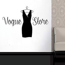 Amazon Com Elegantdecal Wall Decal Window Sticker Beauty Salon Woman Face Fashion Style Clothing Boutique Dress Black Dress Model Hatgmi30 Home Kitchen