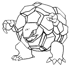 Pokemon Coloring Pages Golem