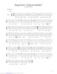 song from a secret garden guitar pro