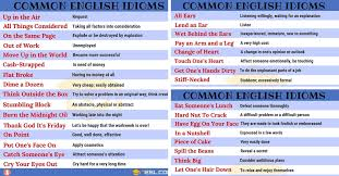 english idioms from a z with useful