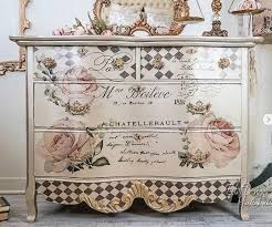 Furniture Decals By Redesign With Prima Are Really Easy To Use And Exceptionally Detailed And Gorgeous Th Decoupage Furniture Chic Furniture Painted Furniture