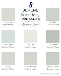 8 serene green gray paint colors