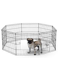Dog Exercise Pen Pet Playpens For Small Dogs Puppy Playpen Outdoor Back Or Front Yard Fence Cage Fencing Doggie Rabbit Cats Playpens Outside Fences With Door 24 Inch Metal Wire
