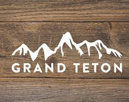 Grand Teton Decal Etsy