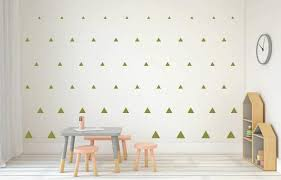 Olive Green Triangle Wall Decals Triangle Sticker Whimsi Decals Whimsidecals