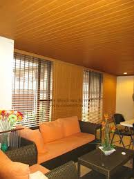foam wood blinds with ceiling plank