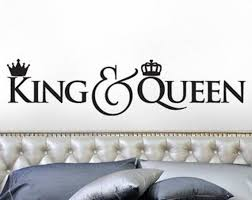 King And Queen Wall Decal Etsy
