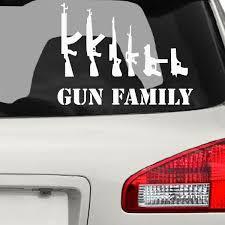 Gun Family Car Stickers The Decal Guru
