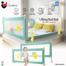 Ibaebe Adjustable Baby Playpen Safety Bed Fence Kids Vertical Lift Bed Rail Infants Security Fencing Barrier Children Crib Guardrail Lazada Ph
