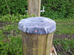 An English Homestead Capping Fence Posts