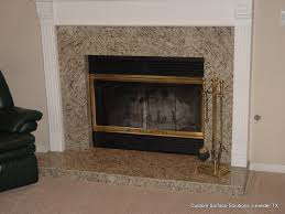 fireplace granite tile traditional