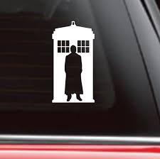 Dr Who Car Decal Tardis Car Decal Tardis Sticker Whovian Sticker Doctor Who Car Decal Whovian Car Decals Tardis