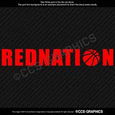 Red Nation Decal Houston Rockets Car Rednation Sticker James Harden Nba 4 Sizes Oracal Sportsdiecut Houston Rockets Sports Decals James Harden