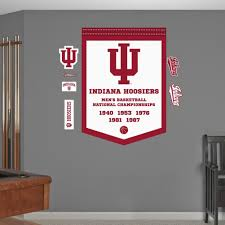 Amazon Com Ncaa Indiana Hoosiers Basketball Championships Banner Wall Decal Sticker 34 X 48in Kitchen Dining