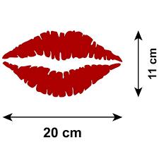 Red Lip Print Car Sticker Lipstick Kiss Zygomax