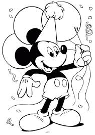 Micky Mouse Met Balonnen Kleurplaat Gratis Kleurplaten Printen