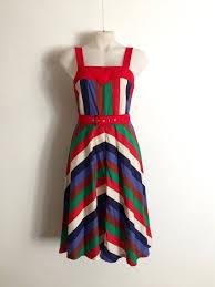 Vintage 1970s Ivan Hamilton multicoloured by TheCrownStProject | Cotton  sundress, Vintage dresses, Stripe skirt