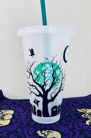 Graveyard Starbucks Cold Cup Vinyl Decal Sticker Pack Etsy In 2020 Custom Starbucks Cup Halloween Cups Starbucks Halloween