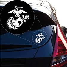 Amazon Com Yoonek Graphics United States Marine Usmc Decal Sticker For Car Window Laptop And More 1258 8 X 7 6 White Automotive