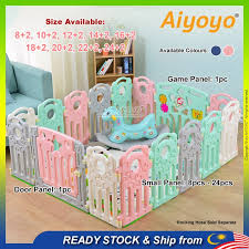 Baby Play Yard Baby Playpen Baby Safety Play Fence Baby Indoor Safety Fence Pagar Bayi Baby