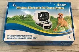 Wireless Electronic Pet Dog Fence Electric Containment System Kd 661 Collar Ebay
