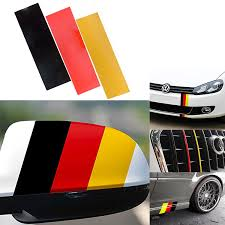 Xotic Tech 10 Euro Germany Flag Color Stripe Decal Sticker Vinyl For Audi Bmw Mini Mercedes Porsche Volkswagen Exterior Or Interior Decoration Walmart Com Walmart Com