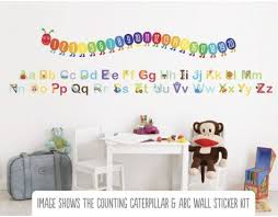 Learn The Alphabet Wall Stickers Abc Wall Kids Wall Decor Alphabet Wall
