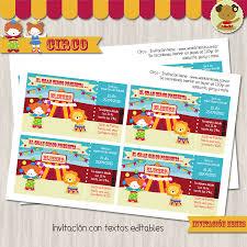 Circo Nene Invitacion Textos Editables