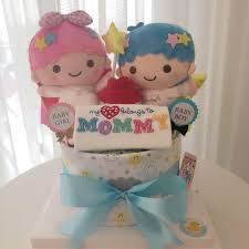 twin baby diaper cake 1 tier for twins