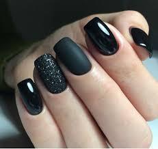 30 y black acrylic nails design you
