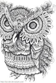 Owl Coloring Pages Colouring Adult Detailed Advanced Printable