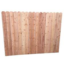 Mendocino Forest Products 6 Ft H X 8 Ft W Redwood Construction Heart Dog Ear Fence Panel 16096 The Home Depot