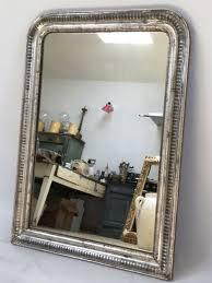 antique french silver gilt mirror
