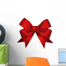 Realistic Red Bow Wall Decal Wallmonkeys Com