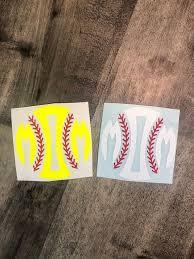 Softball Mom Decal Baseball Mom Decal Sports Decals Etsy