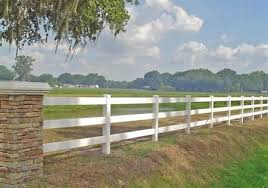 Vinyl Post And Rail 3 Rail Pvc Fence Danielle Fence Outdoor Living Mulberry Fl Post And Rail Fence Pvc Fence Vinyl Fence