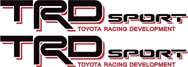 Toyota Trd Off Road Sport 4x4 Tundra Tacoma Truck Decal Stickerx2