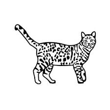 Amazon Com Leopard Bengal Cat Vinyl Decal Sticker Black Automotive