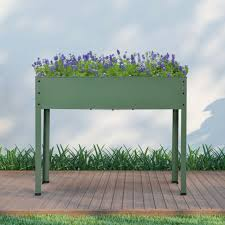 finether elevated planter box metal