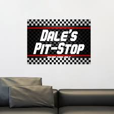 Custom Name Man Cave Wall Decal Checkered Flag Wall Decal Etsy In 2020 Man Cave Wall Decals Wall Decal Sticker Wall Decals
